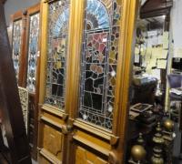 241 -  sold -great-pair-of-antique-stained-glass-doors-walnut-circa-1875-cincinnati-ohio-mint-condi