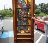 243 -  sold -great-pair-of-antique-stained-glass-doors-walnut-circa-1875-cincinnati-ohio-mint-condit