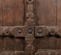 889-ANTIQUE PRS. OF CASTLE DOORS - ABOUT 300 YEARS OLD!