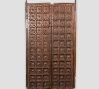 891-ANTIQUE PRS. OF CASTLE DOORS - ABOUT 300 YEARS OLD!