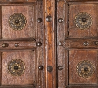 892-ANTIQUE PRS. OF CASTLE DOORS - ABOUT 300 YEARS OLD!