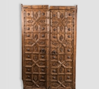 894-ANTIQUE PRS. OF CASTLE DOORS - ABOUT 300 YEARS OLD!