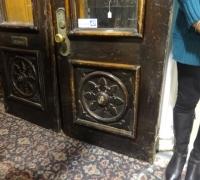 85- sold -antique-wood-carved-door