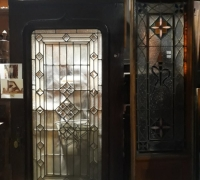 20X..GREAT ANTIQUE BEVELED GLASS DOOR 42 W X 84 H X 2 1/4 THICK...OPTIONAL TRANSOM C. 1880