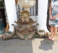 722 -71'' w x 42'' h x 10'' h -Doorway carved crown-FROM MAE REX MANSION
