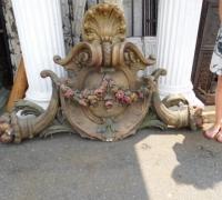 723-71'' w x 42'' h x 10'' h -Doorway carved crown-FROM MAE REX MANSION