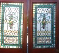 729- Great Pair of Stained Glass Doors with 78 Cut Jewels in Each Door - 106'' H X 36'' W each door