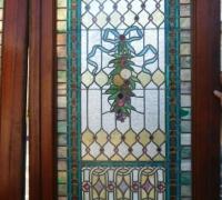 730- Great Pair of Stained Glass Doors with 78 Cut Jewels in Each Door - 106'' H X 36'' W each door