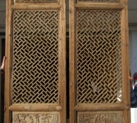 831- 200 YEAR OLD CARVED CHINESE DOORS