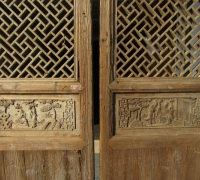 832- 200 YEAR OLD CARVED CHINESE DOORS