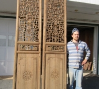 835- 200 YEAR OLD CARVED CHINESE DOORS