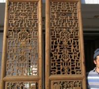 836- 200 YEAR OLD CARVED CHINESE DOORS