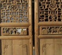 837- 200 YEAR OLD CARVED CHINESE DOORS