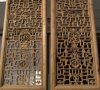 838- 200 YEAR OLD CARVED CHINESE DOORS