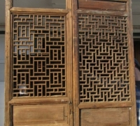 841- 200 YEAR OLD CARVED CHINESE DOORS
