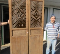 844- 200 YEAR OLD CARVED CHINESE DOORS