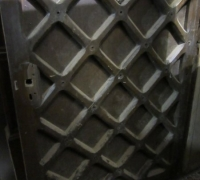 878GREAT CASTLE DOORS - C.1750 TO 1800 - 2 DOORS - 46'' W X 98'' H X 3'' THICK!