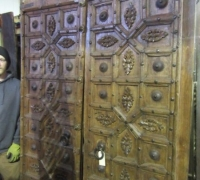 912-ANTIQUE PRS. OF CASTLE DOORS - ABOUT 300 YEARS OLD! 86'' h x 54'' w