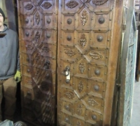 913-ANTIQUE PRS. OF CASTLE DOORS - ABOUT 300 YEARS OLD!- 86'' h x 54'' w