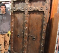 914-ANTIQUE PRS. OF CASTLE DOORS - ABOUT 300 YEARS OLD!- 76'' h x 47'' w