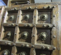 919-ANTIQUE PRS. OF CASTLE DOORS - ABOUT 300 YEARS OLD!- 86'' h x 50'' w