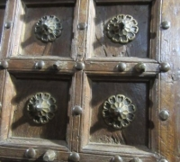 920-ANTIQUE PRS. OF CASTLE DOORS - ABOUT 300 YEARS OLD!- 86'' h x 50'' w