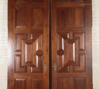 955....105.25 INCHES H X 34 INCHES W PAIR CHERRY RAISED PANELED DOORS