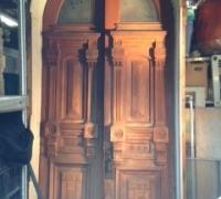 57- GREAT carved walnut - 48'' w x 120'' h