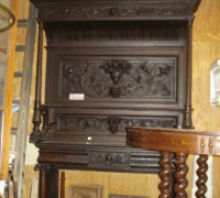 05...GREAT X TALL ANTIQUE CARVED MANTLE 72