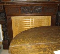 120-antique-carved-fireplace-mantle - C. 1870  WALNUT   10 FT 6