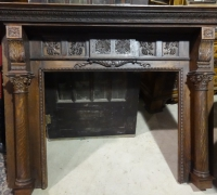 60- sold -antique-carved-fireplace-mantle
