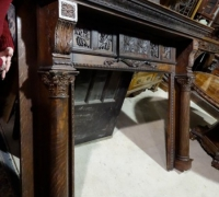 62- sold -antique-carved-fireplace-mantle