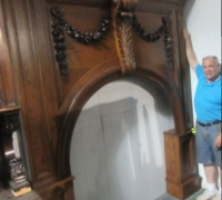 #02B GREAT CARVED ARCHED MANTLE 84 W X 98 H SEE 2774 TO 2776, 2762, 2758, 2767 2750 & 2759