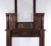 1410.....MAHOGANY MANTLE....121 INCHES H X 69 INCHES W....OPENING 48 H X 36 W