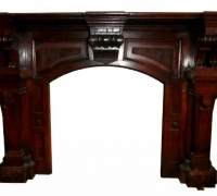 33....BLACK WALNUT MANTEL 45.5 H X 65.25 W OPENING 32.75 H X 33 W...SEE 1463 TO 1466