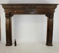 30....FRENCH OAK MANTEL...65 1/2 H X 84 W X 22 1/2 D
