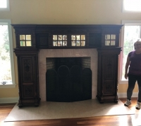 39..sold...WALNUT 104 IN H X 78 IN H W/SIX DOORS...SEE 1449 TO 1454