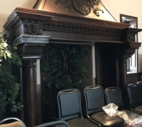 22...8 FT W X 10 FT H WALNUT MANTEL FROM ANDREW CARNEGIE PITTSBURGH PA HOME...C. 1890