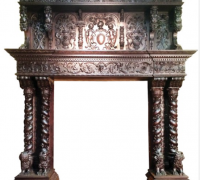 06- 1 OF THE FINEST MANTLES IN THE USA!!! WALNUT - CIRCA 1870 - 97'' H X 91''W /// OPENING NOW 49'' W - CAN BE 54'' W X 55'' H
