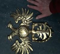 12A...LARGE RUSSIAN BRASS 13 X 13 DOOR KNOCKER