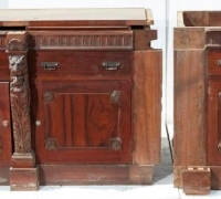 28nh....SIDEBOARD W/4 PILASTERS...35 H X 30W X 25 D