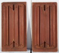 33....PAIR OF LINENFOLD PANELS...27 H X 13 3/4 W
