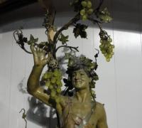 57-rare-antique-iron-bacchus-statue-with-original-finish-and-vaseline-grape-lights-64-h-x-24