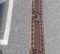 04A...2 MATCHING GREAT CARVED FRETWORK...12 FT L X 33 IN H