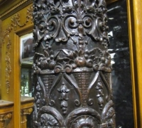 189- GREAT PR. OF FIMEST C. 1860 CARVED COLUMNS - 8' OR 10' HIGH - WALNUT