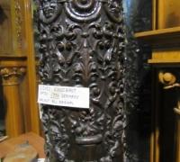 190- GREAT PR. OF FIMEST C. 1860 CARVED COLUMNS - 8' OR 10' HIGH - WALNUT
