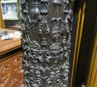 191- GREAT PR. OF FIMEST C. 1860 CARVED COLUMNS - 8' OR 10' HIGH - WALNUT