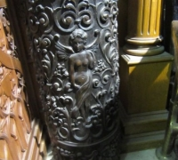 192- GREAT PR. OF FIMEST C. 1860 CARVED COLUMNS - 8' OR 10' HIGH - WALNUT