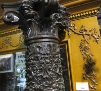 199- GREAT PR. OF FIMEST C. 1860 CARVED COLUMNS - 8' OR 10' HIGH - WALNUT
