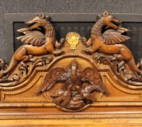 08A...WALNUT GREAT HUGE CARVED CROWN...129
